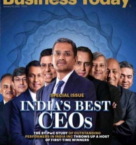 Business Today Story on top 100 CEOs